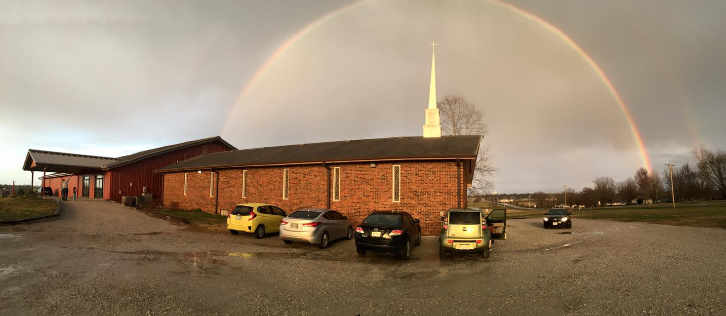 Rainbow Over FBCO, by Sydney Snyder-Sadler.